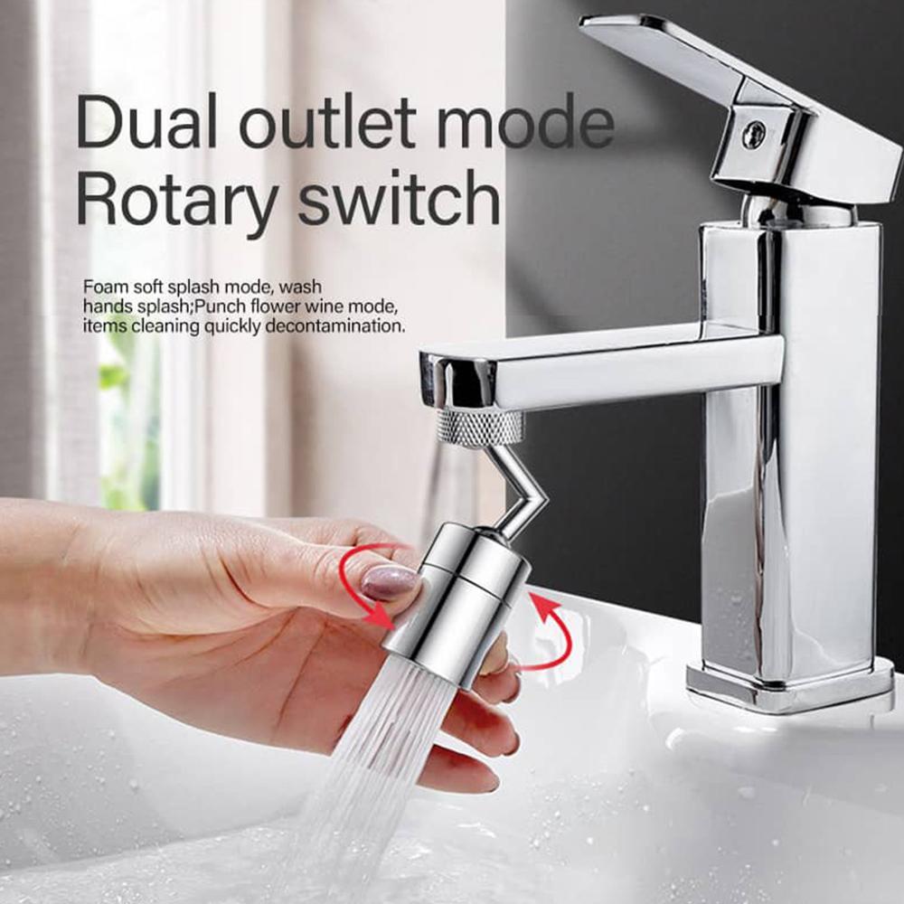 720 derece evrensel sıçrama filtre musluk sprey başlığı, Anti sıçrama filtre musluk hareketli mutfak musluk su tasarrufu memesi püskürtücü