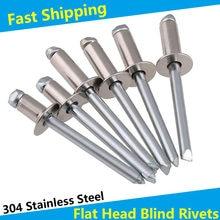 Stainless Steel Flat Countersink Head Pop Open Pull Blind Rivets Bolt Dropper Self-plugging Rivet Decoration Nail Blindniete