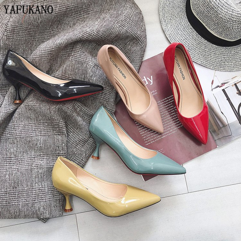 Fashion Small Fresh High Heels 2020 Fall New Women's Shoes Pointed Stiletto Single Shoes Wild Black Work Shoes Dress Party Pumps