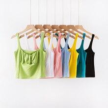 BRADELY MICHELLE модные сексуальные женские короткие топы без рукавов Короткие midriff-baiing fold solid camis