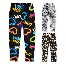 Leggings Girls Pencil-Pants Flower Spring Summer Trousers Skinny Kids Children Sweet