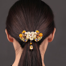 Ancient style Ethnic Large Barrettes Hair Ornaments Women Accessories Jewelry Vintage Hairpins Handmade Headwear Clip