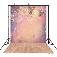 กลีบดอกไม้Gradientน้ำมันภาพวาดไวนิลพื้นหลังสำหรับถ่ายภาพเด็กคนรักใหม่เกิดBaby Photoshoot