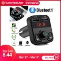 VicTsing Bluetooth MP3 плеер fm-передатчик Handsfree беспроводной радио адаптер USB Автомобильное зарядное устройство 2.1A MP3 плеер SD воспроизведение музыки