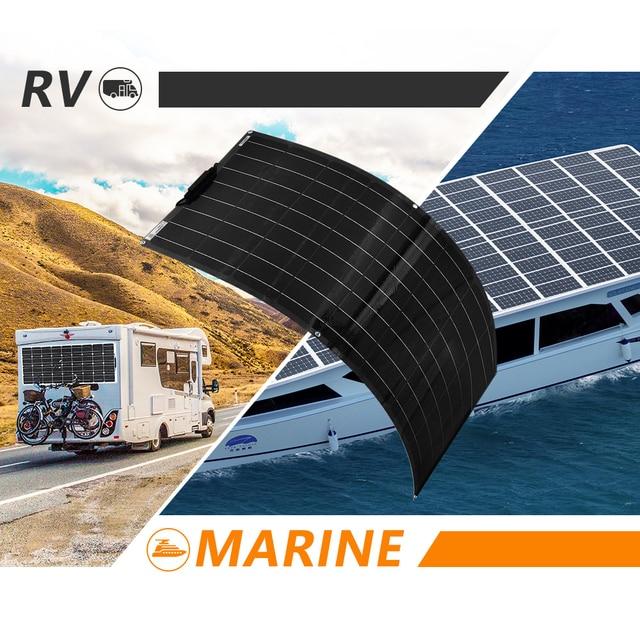 XINPUGUANG 1pcs~ 5pcs  18v 120W Black Flexible Solar Panel 18V/36v 240w 48V/18V 360W 12V/24V 480W 600W 6