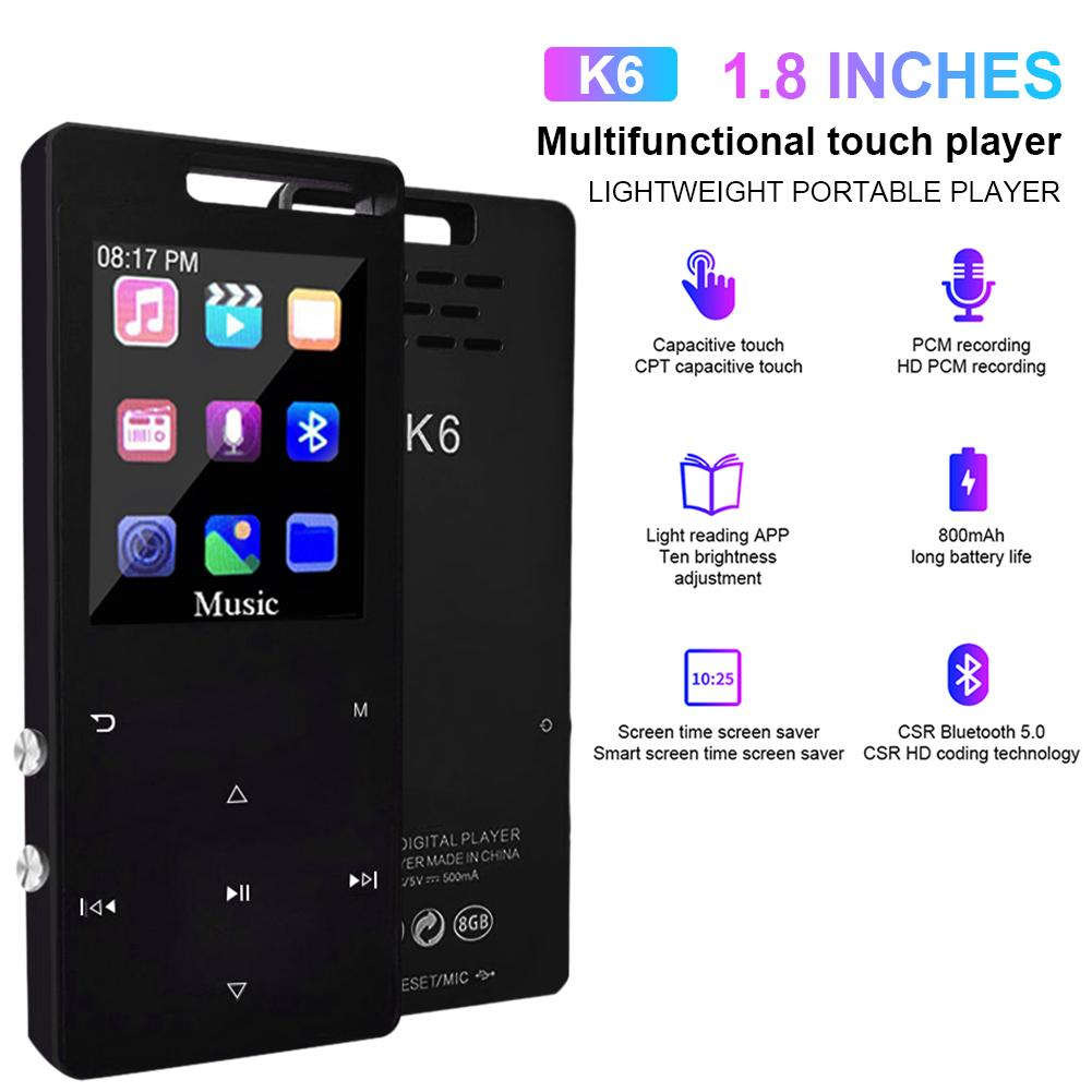 MP3 Player Bluetooth MP3 Player Speaker Touch Screen Music Players Radio Speaker Support FM/Recording Accessories