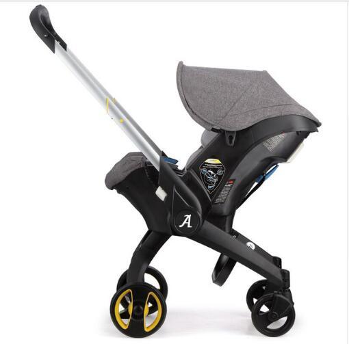Landscope Landscope pliable Portable pour bébé 4 en 1 poussette 3 en 1 avec siège de sécurité pour voiture couffin poussette légère pour nouveau-né