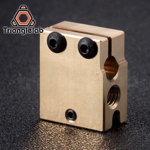 Image 5 - Trianglelab真鍮火山ヒーターブロック硬化鋼火山ノズルチタン合金熱ブレーク高温キットPT100