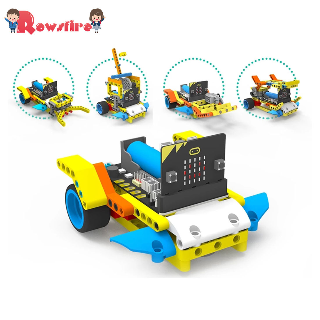New Program Intelligent Robot Building Block Car Kit Various Shapes Steam Programming Education Car For Micro:Bit(Not Include)
