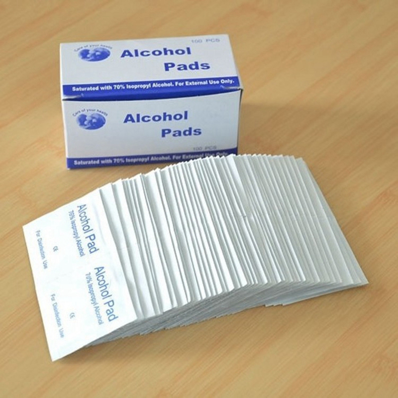500Pcs/Lot 75% Alcohol Prep Swap Pad Wet Wipe For Antiseptic Skin Cleaning Care Jewelry Mobile Phone Clean