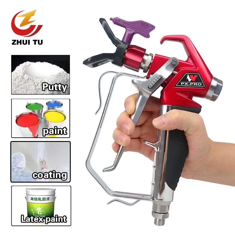 ZHUI TU 3600PSI Professional Airless Spray Gun Paint Putty Sprayer Gun For Wagner Titan Pump High Pressure Airless Sprayer