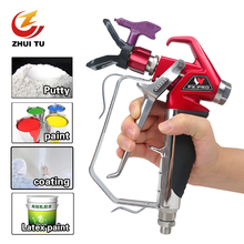 цена на ZHUI TU 7250PSI Professional Airless Spray Gun Paint Putty Sprayer Gun For Wagner Titan Pump High Pressure Airless Sprayer