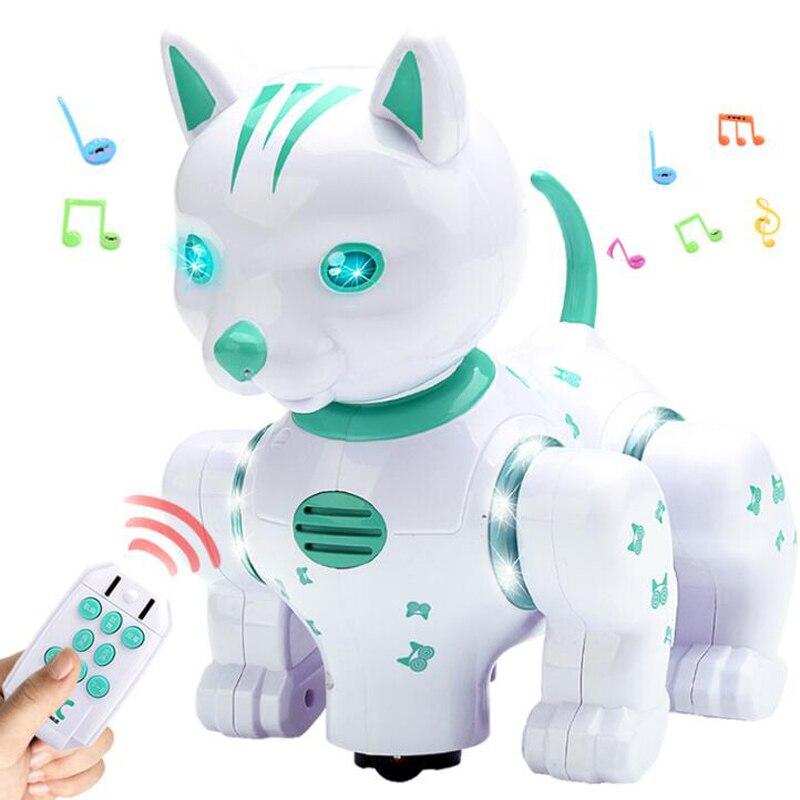 controle remoto infravermelho do controle remoto do robo inteligente gato musica puzzle brinquedo iluminacao voz pet