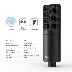 Image 4 - Fifine USB PC Condenser Microphone with Adjustable desktop mic arm shock mount for  Studio Recording Vocals  Voice, YouTube