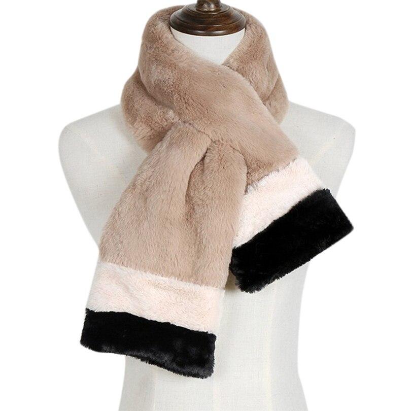 Scarf 2019 Warm Winter Faux Fur Scarves Women Long Rabbit Fur Stole Neck Scarf Thicken Fur Imitation Collar Fur Grass Scarves A4