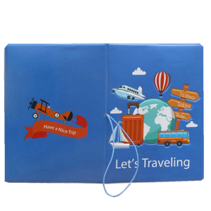 Letter Lets Traveling Passport Cover Wallet Bag Creative Women PU Leather Id Address Holder Portable Boarding Travel Accessories