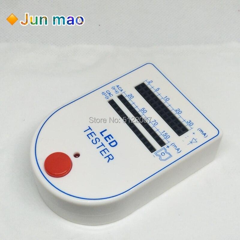 Portable Mini Light-Emitting Diode Bulb Lamp 9V 2~150ma LED Tester Test Box