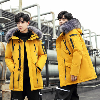 Winter new cotton-padded jacket Korea outdoor clothes lovers hair collar thickened Coat for Loves Men and women LX-686PXDL08