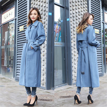 2020 New Large Size Spring Autumn Women's Trench Coats Chic Slim X Long Windbrea