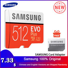 SAMSUNG tarjeta de memoria 32G 64G 128G 256G 512G Micro SD SDHC SDXC grado EVO + Clase 10 C10 UHS TF tarjetas SD