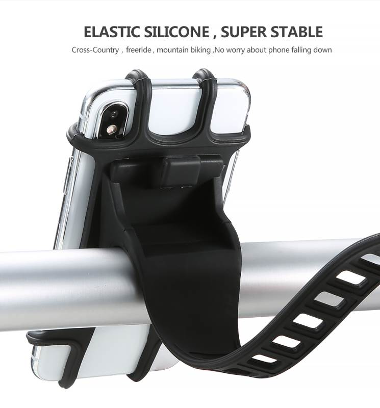 High Quality Silicone Bicycle Phone Holder For iPhone Universal Motorcycle Bike Stand GPS Bracket For 4.0-6.3inch Mobile Phone 1