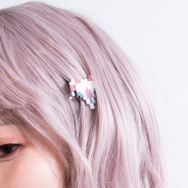 Danganronpa 2 Chiaki Nanami Hair Clip cosplay accessories Super Dangan Ronpa Cute Plane Pixel Hairpin Props Women Girls Headwear