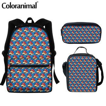 Coloranimal 2020 Japanese Anime Mario Design School Bags For Teenger Girls Boys Casual Backpacks Large Scool Bag Men Satchel 15