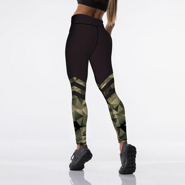 Sexy High Waist Elasticity Women Digital Printed Leggings 5