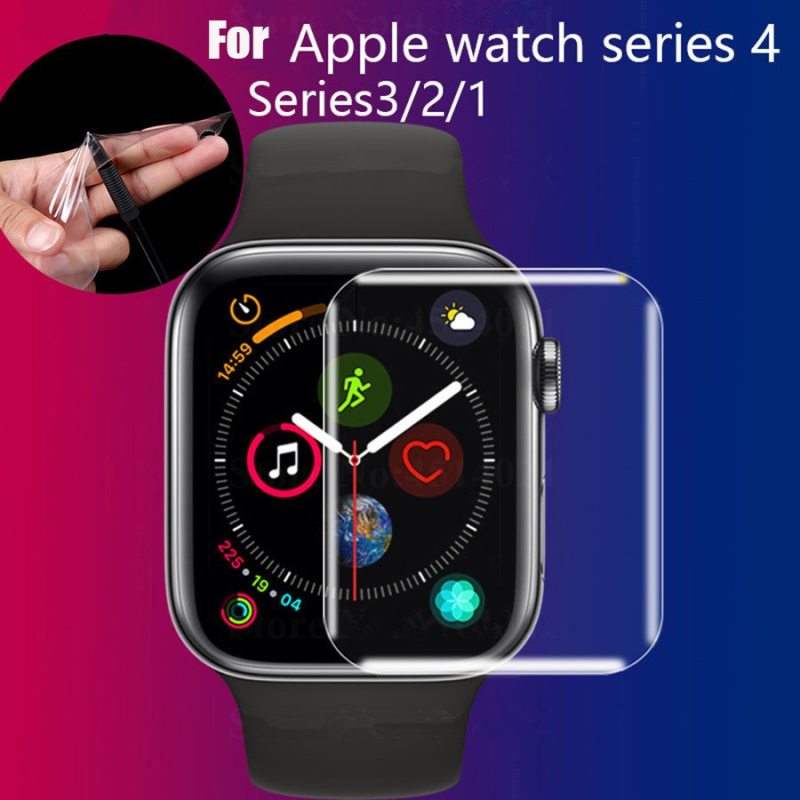Smart Watch Screen Protector For Apple Watch Series 4 3 2 1 40mm 44mm 38mm 42mm For Iwatch TPU Soft Protective Film Case Cover