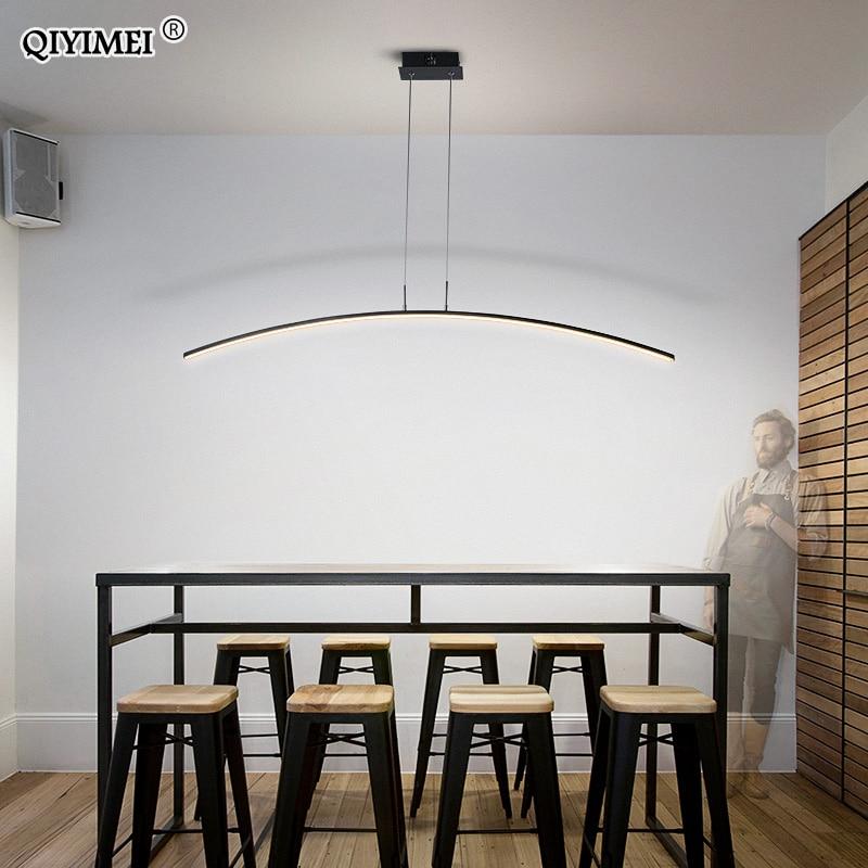 Controle remoto modernas luzes pingente para cozinha sala de jantar cabo pendurado teto lâmpadas deco maison halat avize lustre pendente - 2