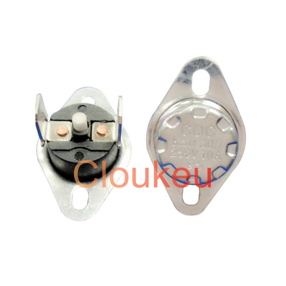 Температурный протектор с ручным переключателем KSD301 KSD303 10A 250V 105/110/115/120/125/130/135/140/145