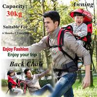 Foldable Baby Travel Carrier Waterproof Baby Toddlr Hiking Backpack Outdoor Mountaineering Shade Carrier Original Frame Chair
