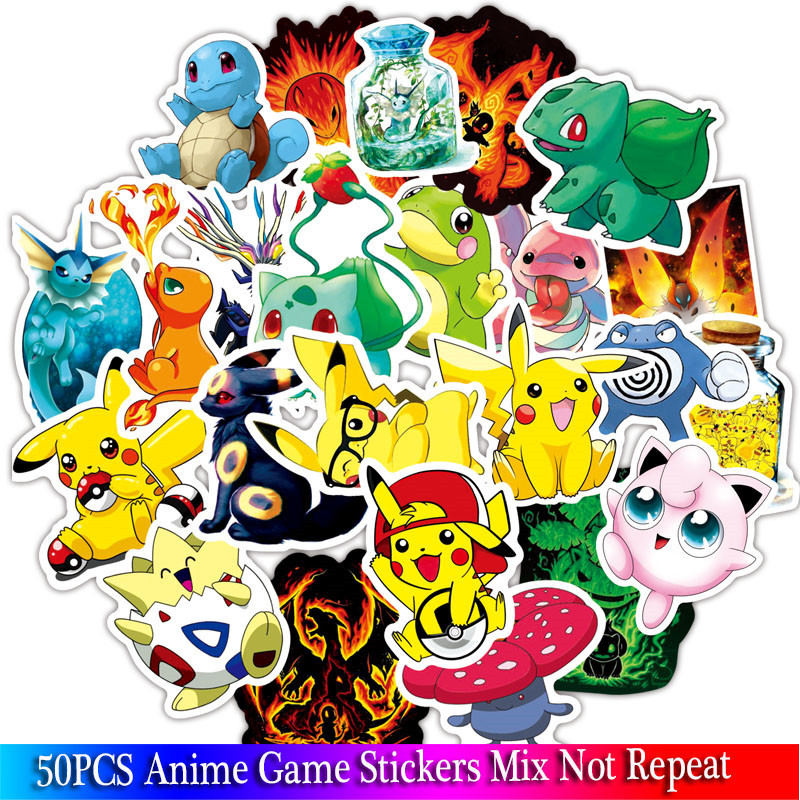 36PCS Anime Game Stickers Animal Stickers For Luggage Skateboard  Bicycle Fridge Laptop Cute Cartoon Sticker Set