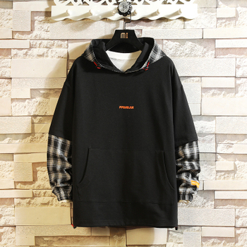 Japan Style Casual O-Neck 2020 New Arrived Hoodie Sweatshirt Men Thick Fleece Hip Hop High Streetwear