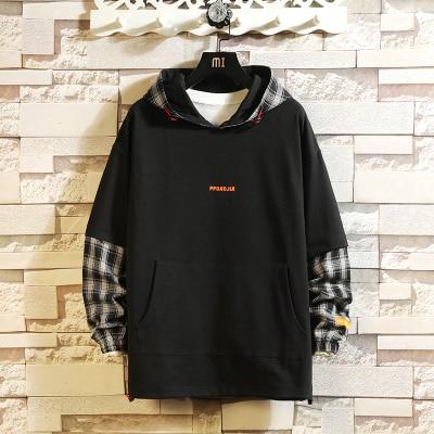 Japan Style Casual O-Neck 2020 New Arrived Hoodie Sweatshirt Men Thick Fleece Style Hip Hop High Streetwear