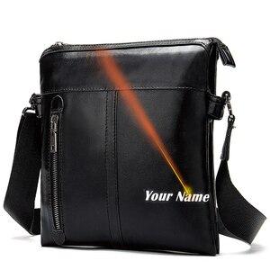Image 1 - Westal mens shoulder bag for men male solid messenger crossbody bag casual mens bags flaps zipper handbag designer shouler bag