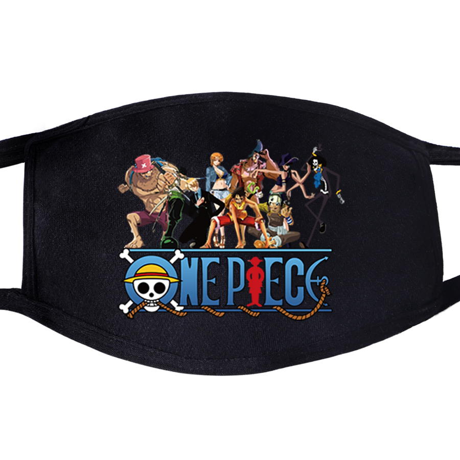 One Piece Japanese Anime Face Mask Unisex Mouth Anti Dust Anti-bacterial Quarantine Protective Dust The Pirate King Luffy Masks