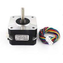 цена на High Quality 4-lead Nema 17 Stepper Motor 42 Motor 42BYGH 0.6A CNC Laser 3D Printer Motor Electric Motor 17HS2408S