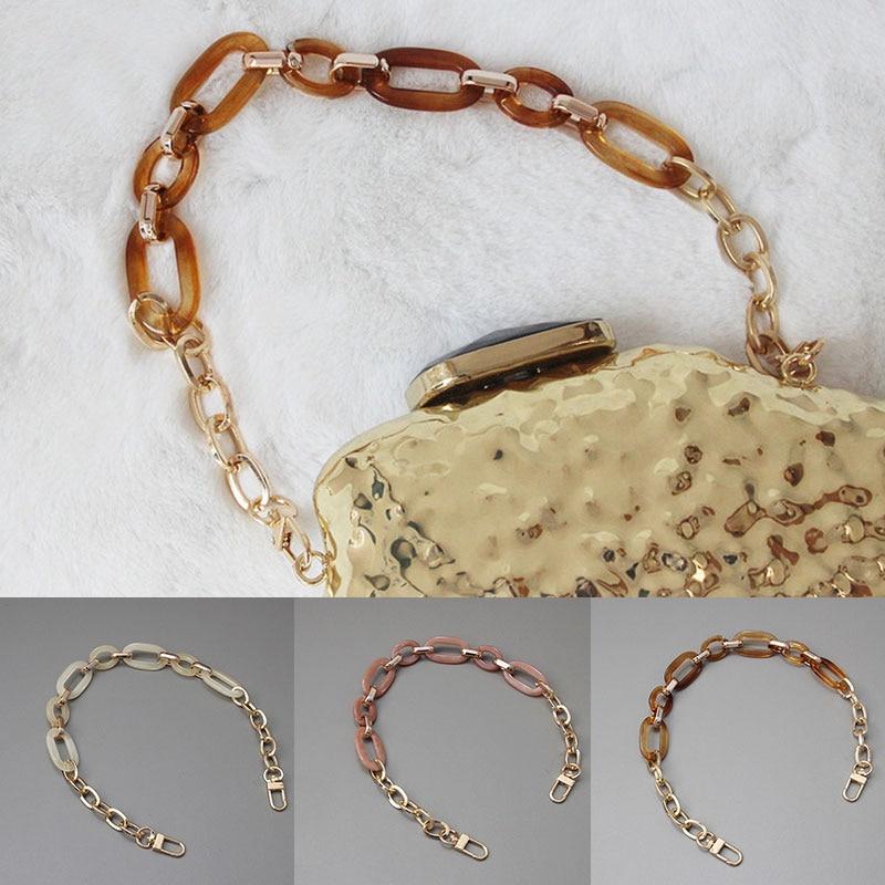 New Acrylic Shoulder Bag Strap Chic Resin Chain Strap for DIY Handbag Handles Detachable Crossbody Bag Straps Bag Accessories