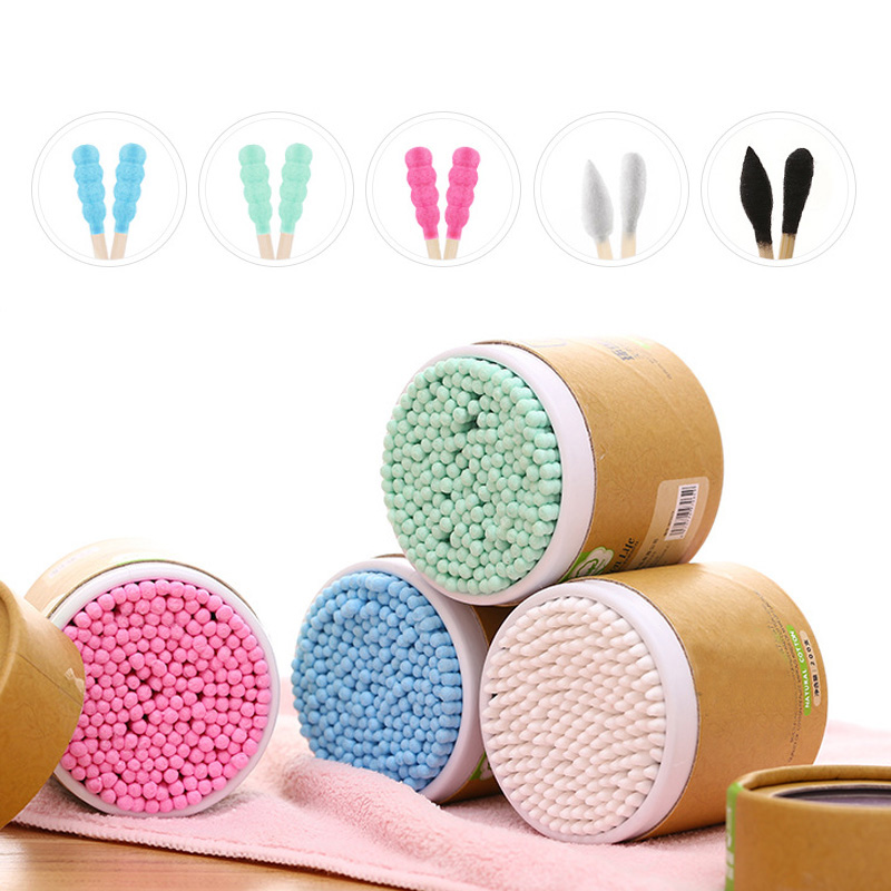 200pcs/Box Bamboo Cotton Swab Wood Sticks Soft Cotton Buds Cleaning Of Ears Tampons Microbrush Cotonete Pampons Health Beauty