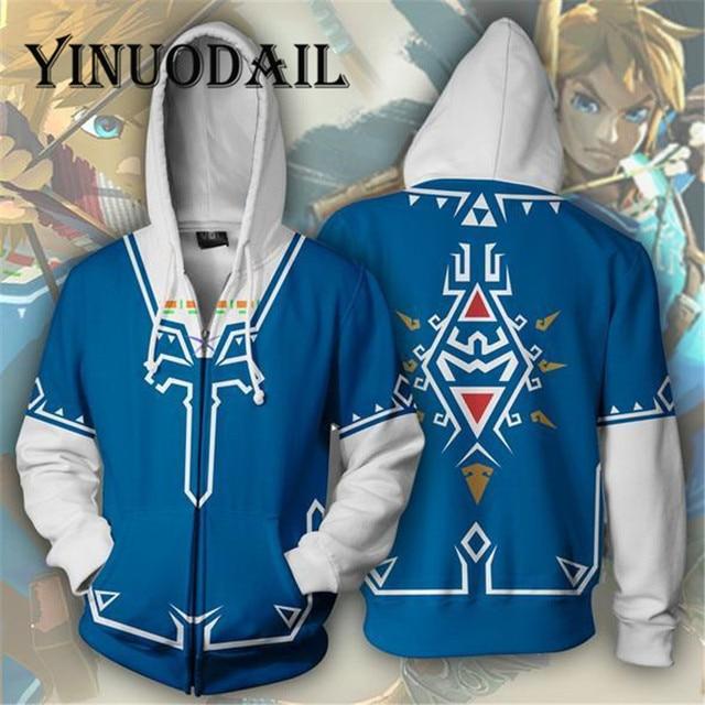 Fans Wear The Legend of Zelda 3D Hoodies for Women & Men Clothes 2018 Sweat Homme Long Sleeve Game Cosplay 1