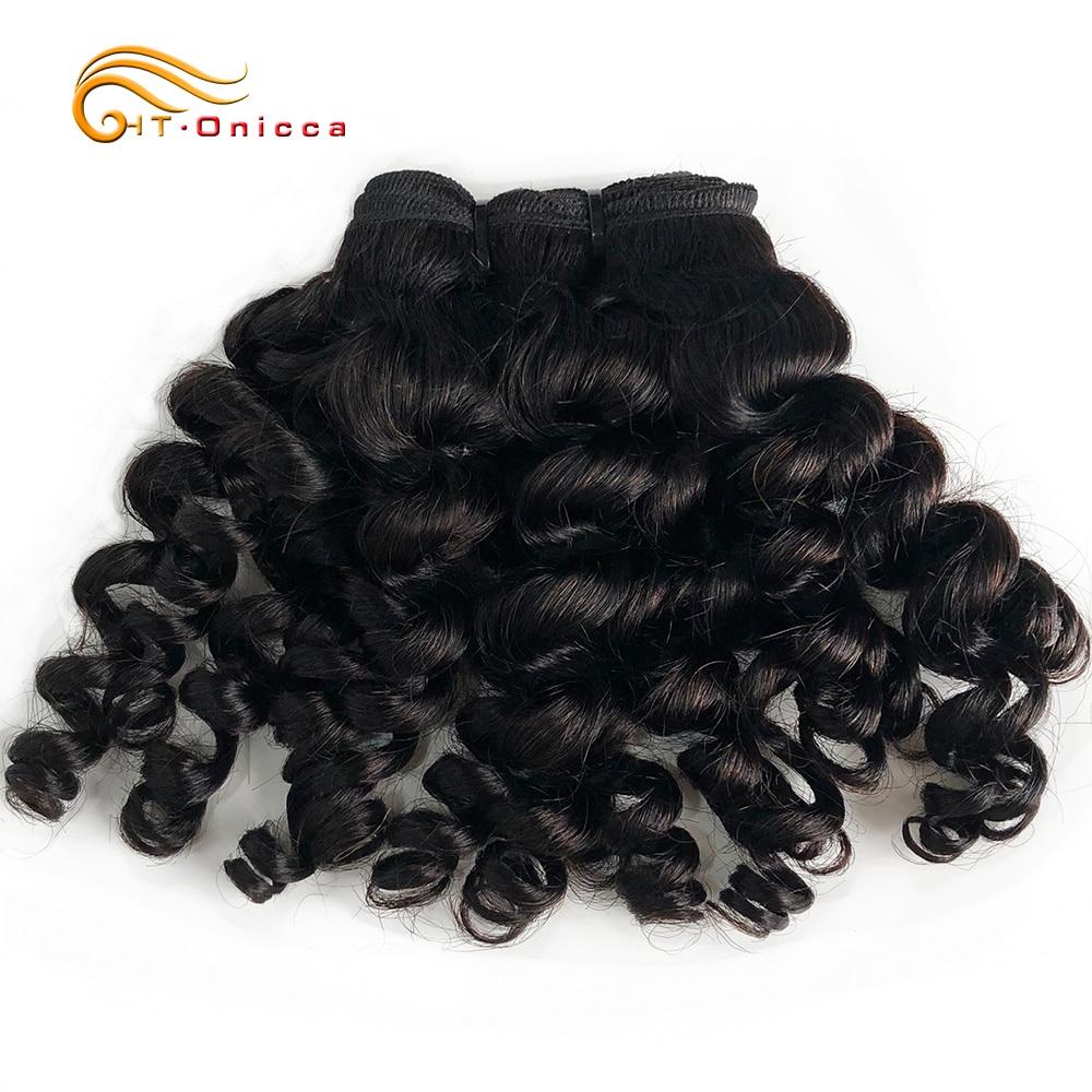 Индийские Надувные вьющиеся человеческие волосы, 1, 3, 4 пучка, сделан, вьющиеся пряди волос, натуральные волосы для наращивания для черных же...