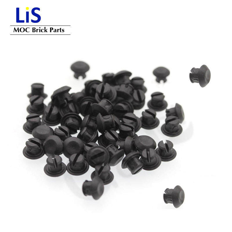 200Pcs/Lot Bulk Technic <font><b>Rubber</b></font> Stopper Chain link Grip Caterpillar Track Attachmen Bricks Toy Compatible with Tank Link image