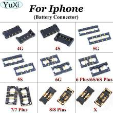 Conector da bateria do carregador de yuxi fpc no mainboard para o iphone 5 5S 6 7 8 6 s mais 4 4S para o iphone x na placa-mãe(China)