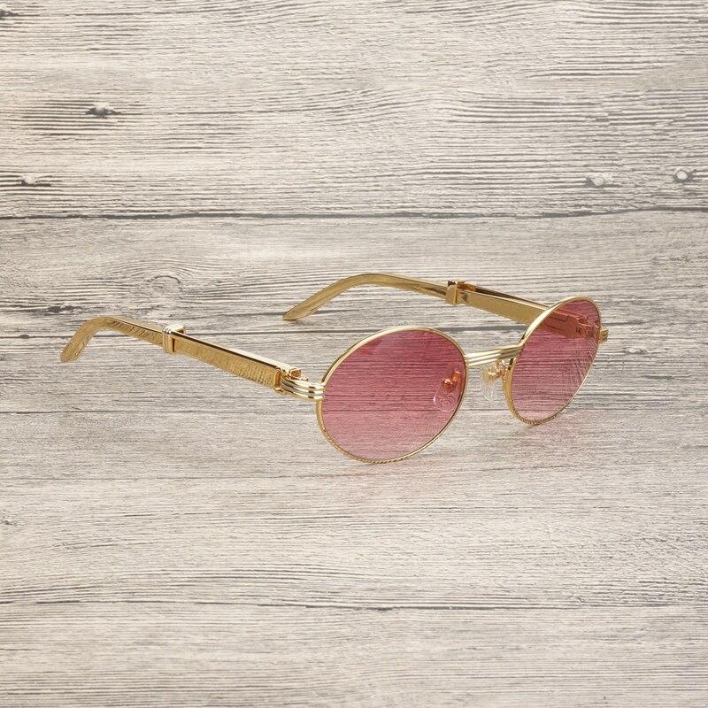 Di lusso Oro Occhiali Da Sole Da Uomo Accessori In Acciaio Inox Telaio Occhiali Da Vista Occhiali per Club di Guida Occhiali Chiari Oculos Occhiali