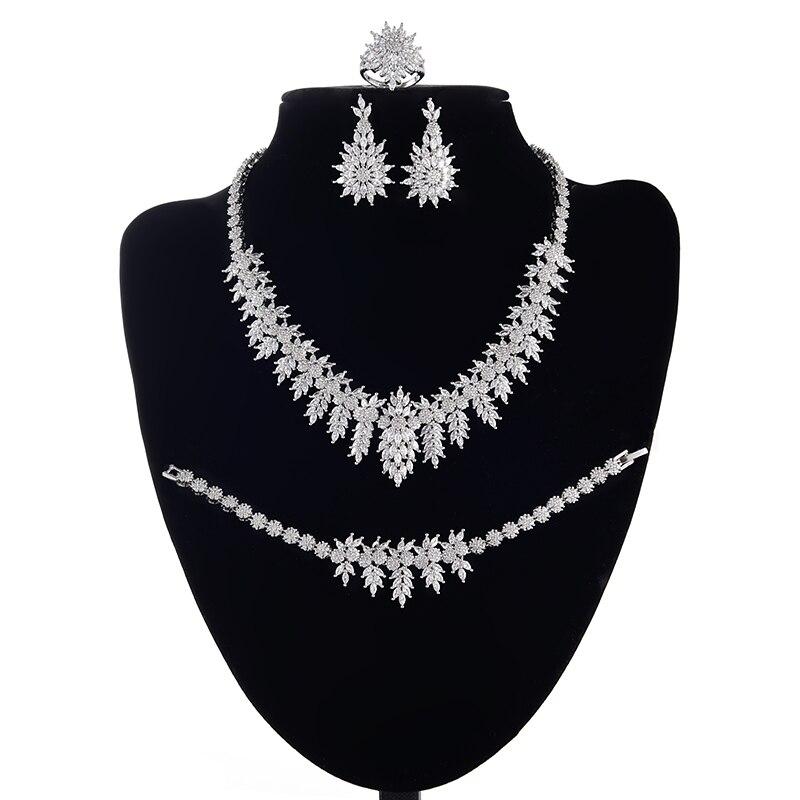 Jewelry Sets HADIYANA Dubai Fashion Leaf Design For Women Wedding Jewelry High Quality Cubic Zirconia CNY0059 Conjunto de joyas
