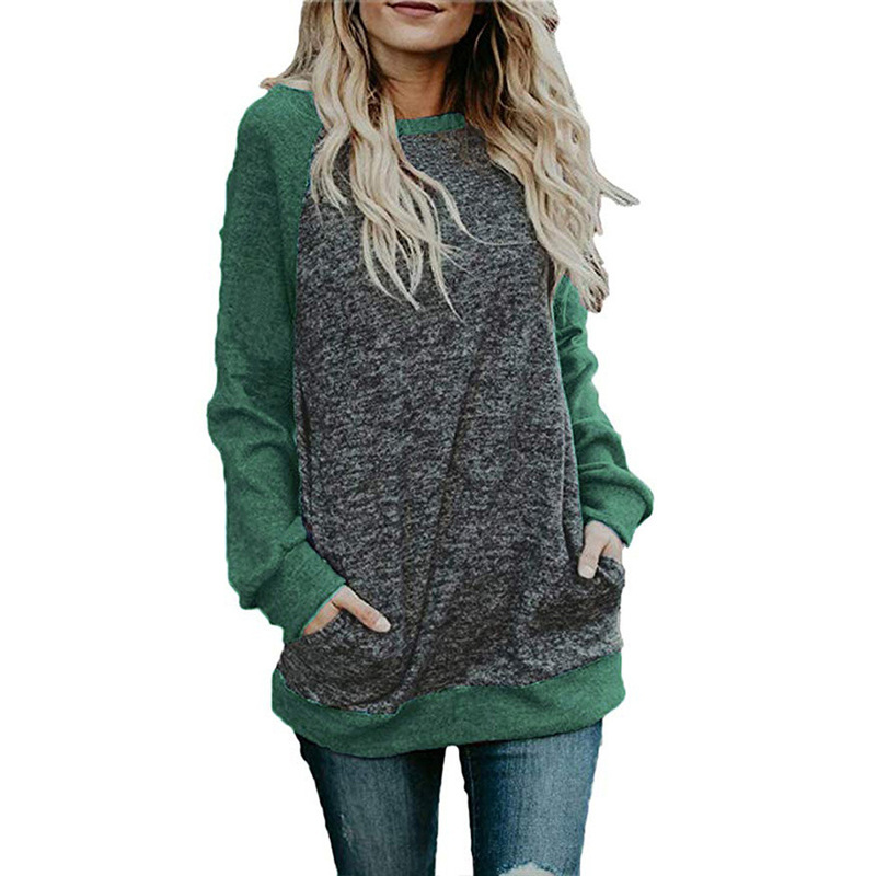 Fashion Women Blouse Oversize Solid Long Sleeve Casual Pullover Shirt Tops