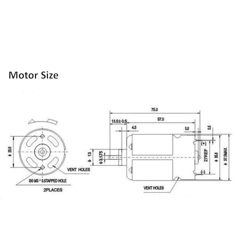 คาร์บอนแปรงเปลี่ยน฿550 RS-550 RS550 545 RS545 BOSCH MAKITA DEWALT HITACHI METABO Milwaukee WORX Hiltiมอเตอร์
