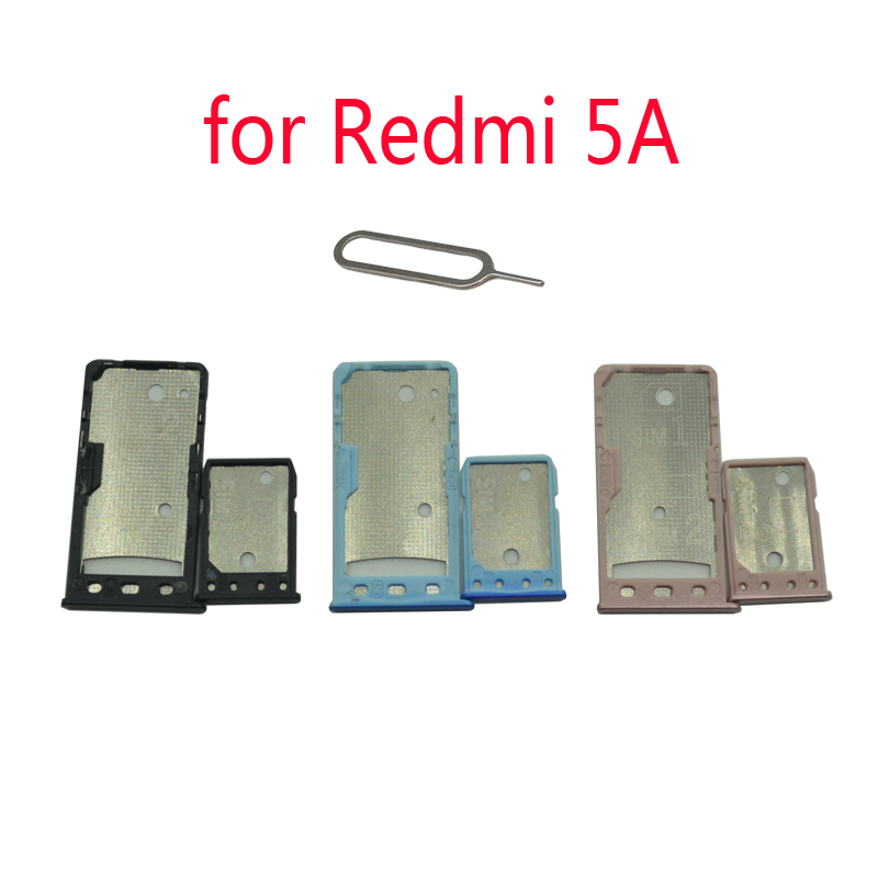 For XIAOMI Redmi 5A Phone SIM Card Tray Adapter For Xiaomi 5A Original Housing New Micro SD Card Tray Holder Replacement + Tools