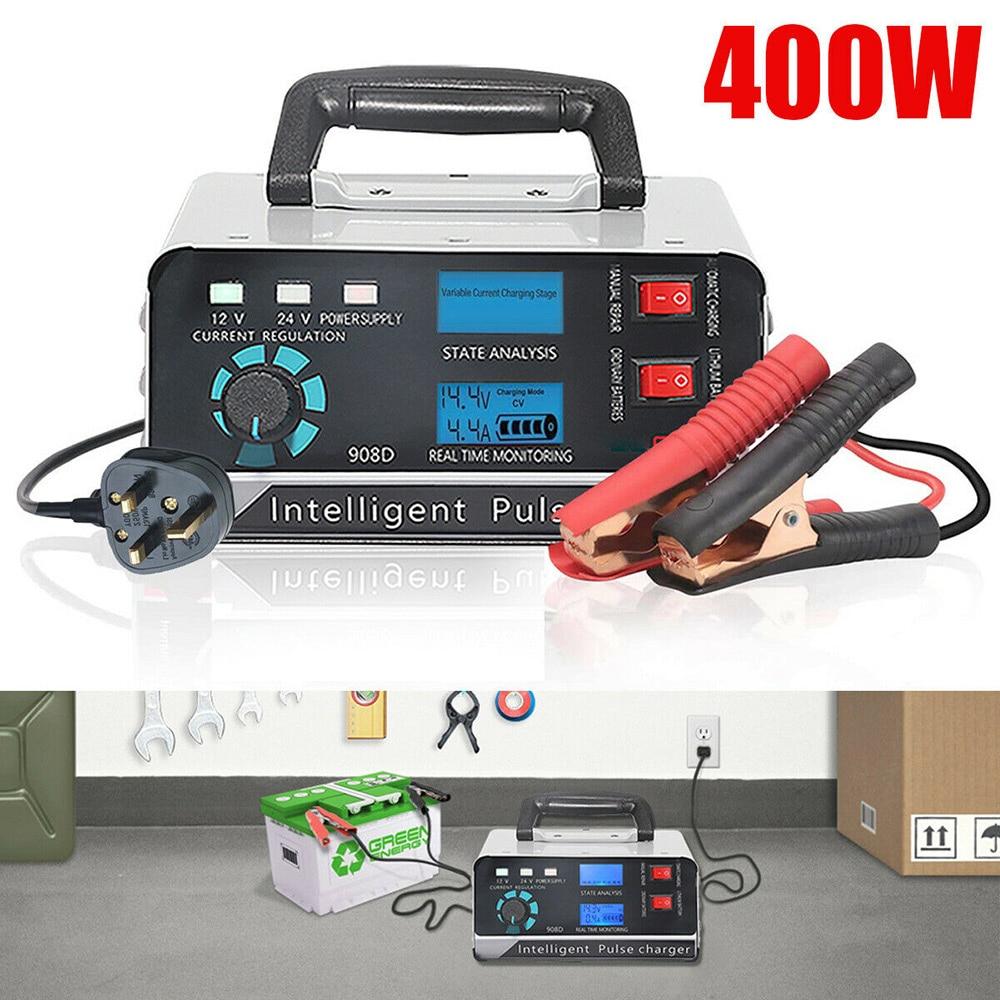 400W chargeur de batterie de voiture puissance de charge réparation en cinq étapes 130V-250V charge rapide hiver ajustement automatique accessoires de voiture